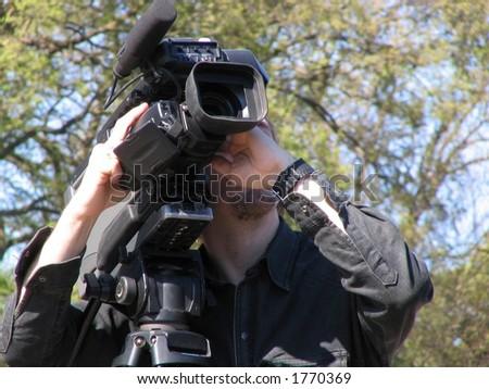 Tv operator - stock photo