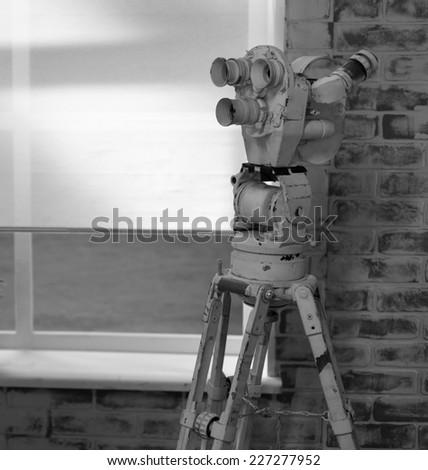 TV Professional studio camera - stock photo