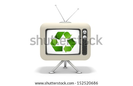 TV recycling - stock photo