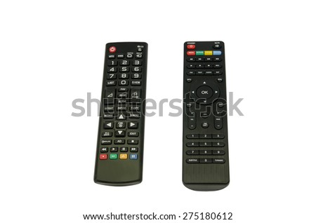 Tv remote control isolated - stock photo