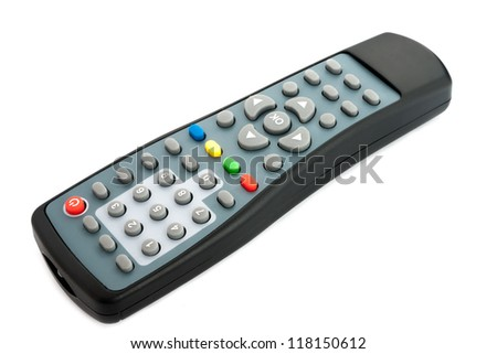 TV remote control on white background. - stock photo