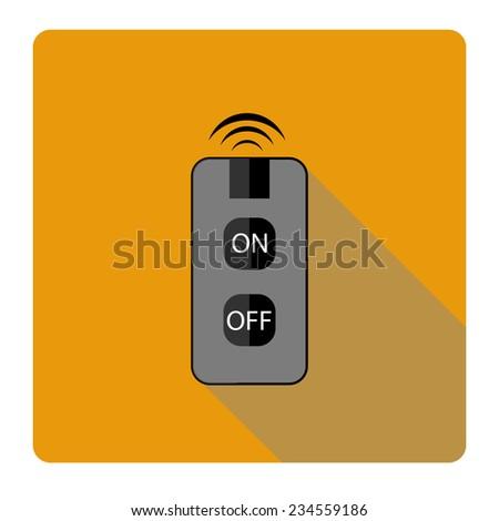 TV remote icon flat - stock photo