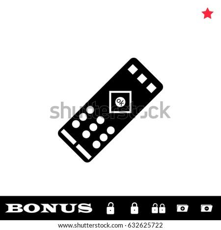 tv remote clipart no background. tv remote icon flat. simple black pictogram on white background. illustration symbol and bonus tv clipart no background