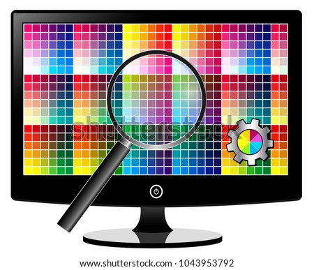 TV Screen Calibration. Adjustment of color settings for best picture quality