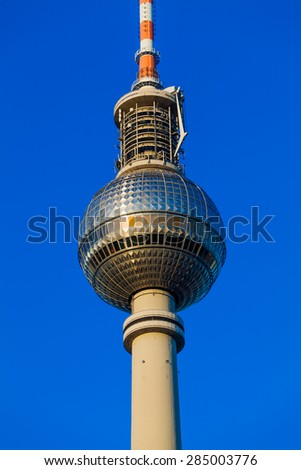 Tv tower in Alexanderplatz, Berlin, Germany