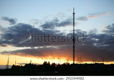 TV tower in Viesintos town Anyksciai district in Lithuania.