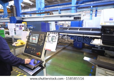 TVER - JUN 05: Automation of the production process, on June 05, 2013 in Tver, Russia. - stock photo