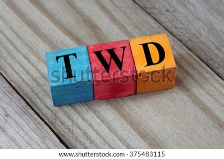 Twd Taiwan New Dollar Symbol On Stock Photo Image Royalty Free