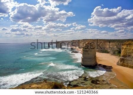 Twelve Apostles in Melbourne, Australia - stock photo