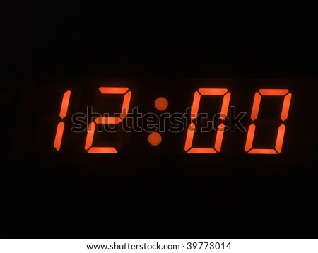 twelve o clock - noon - stock photo