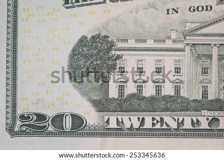 twenty dollars macro - stock photo