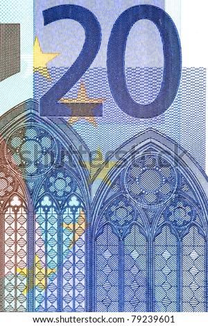 twenty euro closeup - stock photo