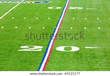 Twenty yard line - stock photo