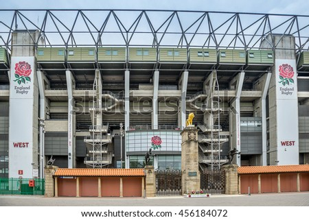 Twickenham, London,England on 20th July 2016: Twickenham Stadium is a stadium in Twickenham, south west London, England, It is primarily a venue for rugby union and hosts England's home test matches,