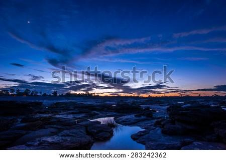 Twilight at Grand Canyon of Thailand - stock photo