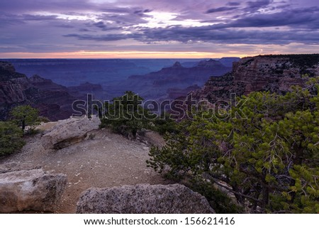 Twilight Blue Hour at Cape Royal - stock photo
