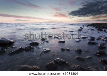 Twilight coast scene, southern of Sweden