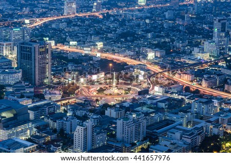 twilight of Victory monument in central Bangkok Thailand