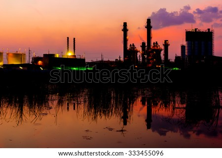Twilight photo of power plant  - factory