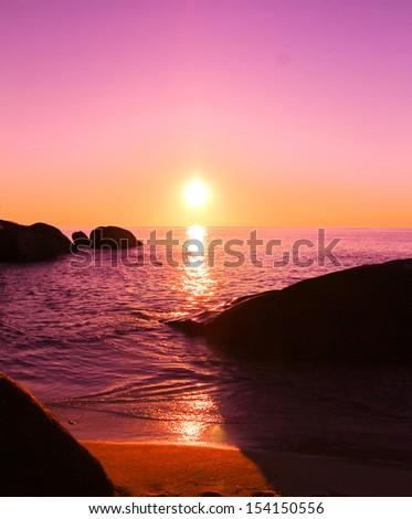Twilight Shore Stones  - stock photo