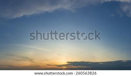 twilight sky - stock photo