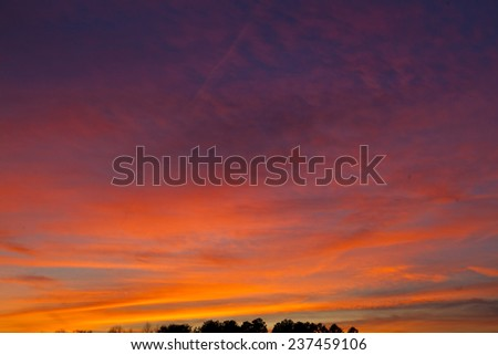 Twilight sky and sky  - stock photo