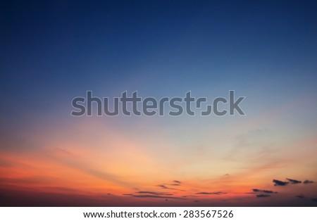 Twilight sky background - stock photo
