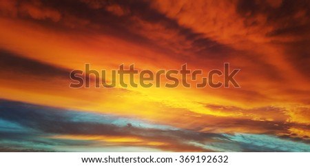 Twilight sky texture and wallpapers - stock photo