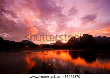 Twilight time - stock photo