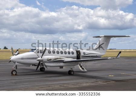 Twin Engined Business Aeroplane - stock photo