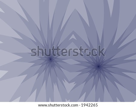 twin flower abstract - stock photo