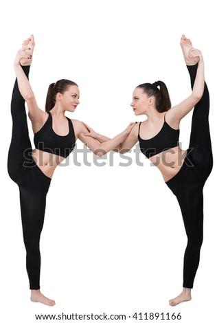partner yoga stock images royaltyfree images  vectors