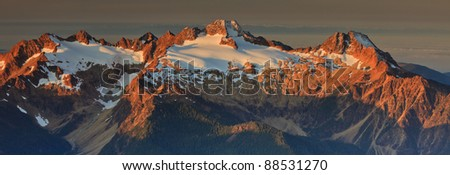 Twin Sisters Mountains - stock photo