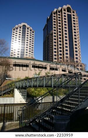 Twin Towers - Richmond Virginia - stock photo