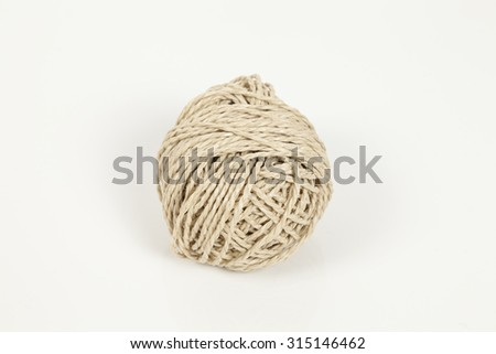 Twine for packaging isolated - stock photo
