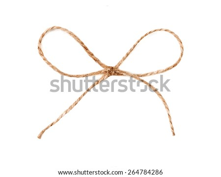 Twine string tied in a bow isolated. design element - stock photo