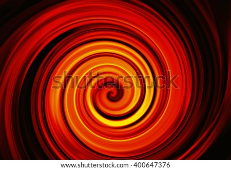 twirl motion of bright explosion flash on black background. Motion blur effect - stock photo