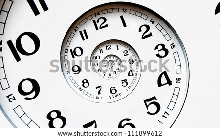 Twisted clock face. Time concept - stock photo