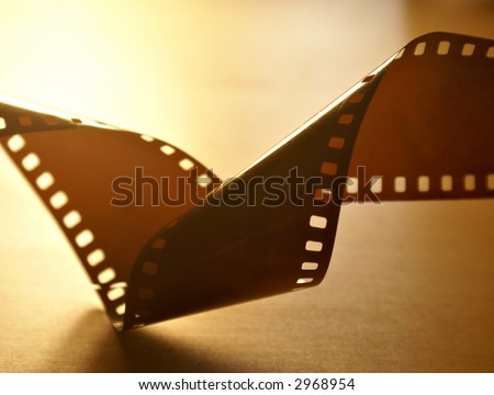 Twisted film abstract - stock photo