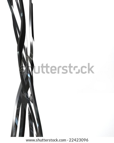 Twisted metal bars - stock photo