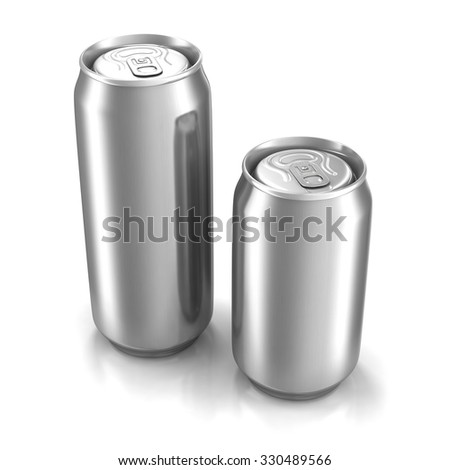 Two aluminum cans