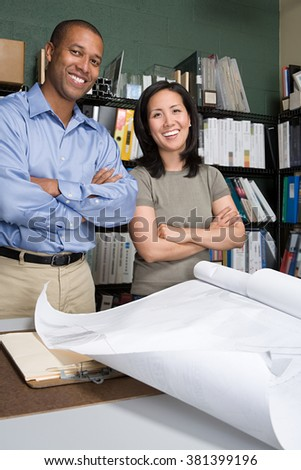 Two architects - stock photo