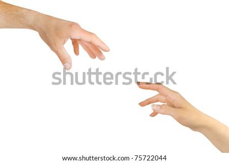 two arms of lovers - stock photo