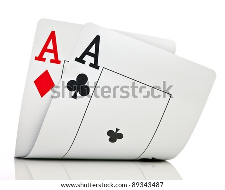 Two ases on a white background