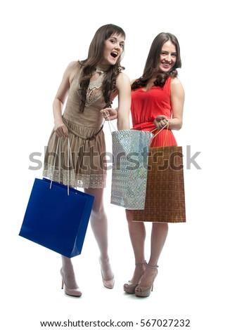 Girl With Shopping Bags Stock Images, Royalty-Free Images ...