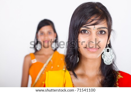 two beautiful indian girl in studio