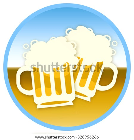 Two beer - stock photo