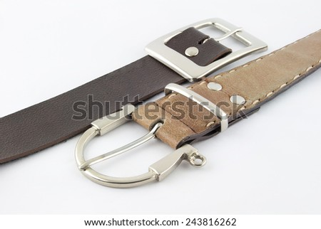 two belts for women - stock photo