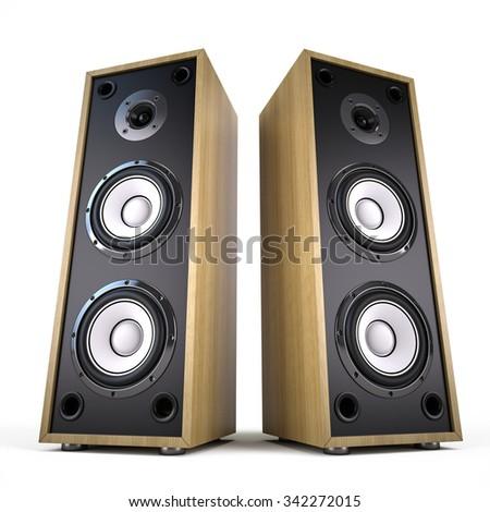 Two Big Audio Speakers boxes â?? advertisement music concert audio  sc 1 st  Shutterstock & Two Big Audio Speakers Boxes Advertisement Stock Illustration ... Aboutintivar.Com