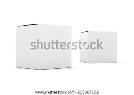 two blank box products template - stock photo